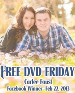 Facebook Free DVD Friday Winner